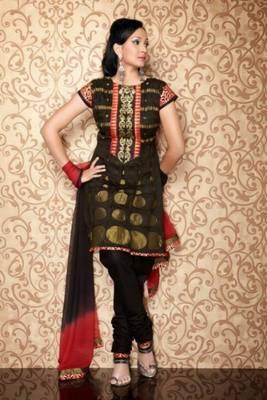 Chanderi Cotton Embroidered Salwar kameez Dress Material SCTRB31