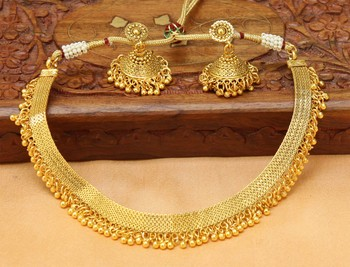 Designer Gold Plated Necklace Set