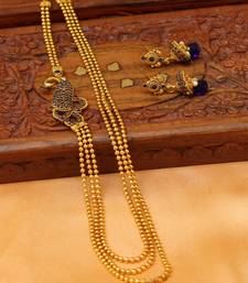 Buy Gorgeous Gold Plated Multi Layer Peacock Necklace sets south-indian-jewellery online