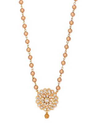 Kundan And Gold Pendant Necklace