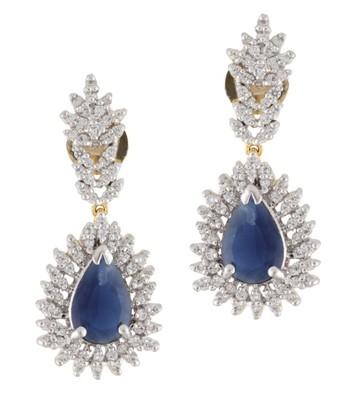Lovely Blue CZ Earrings 2