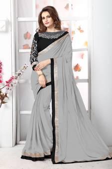 55e0f6337b34b2 Chiffon Sarees Online | Plain Chiffon Sarees | Buy Pure शिफॉन ...