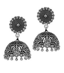 Antique Oxidized Silver Plating Budha Shape Jhumki Women Earrings