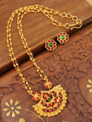 AWESOME GOLDPLATED HANDMADE NECKLACE SET-DJ02612