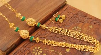 Awesome Handmade Green Designer Balls Chain Set