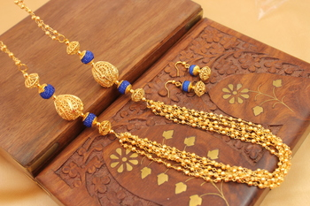 Awesome Handmade Blue Designer Balls Chain Set