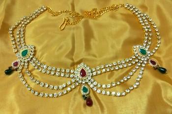Gorgeous austrian diamonds multicolor waist belt kamarband belly chain