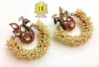 Blissful Peacock earrings