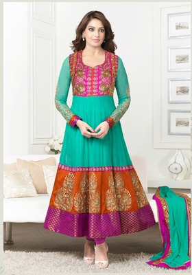 Bipasha Basu Designer Party wear Aanarkali Suit