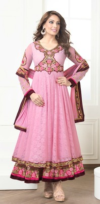 Bipasha Basu Fashionable Designer Aanarkali Suit