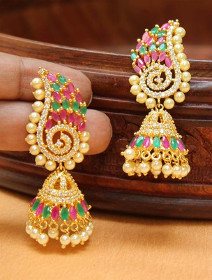 Awesome Designer High Gold Plated Party Wear Earrings