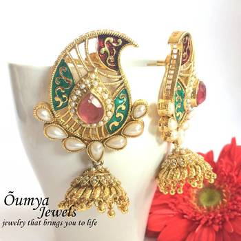 Paisley red green zhumki