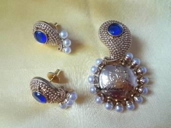 Beautiful Blue Lakshmi Pendant