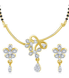Buy best - selling high gold plated look fashion american diamond tanmaniya mangalsutra online