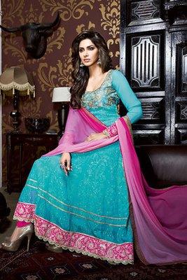 Wonderful Zari and Resham Embroidered Designer Anarkali Suit