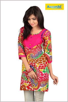 Multi Colour Pure Cambric Kurti