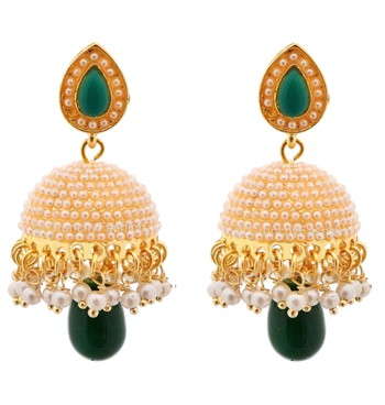 Crunchy Fashion Bollywood Inspired Traditional Party Wear Jhumka Earrings For Girls & Women