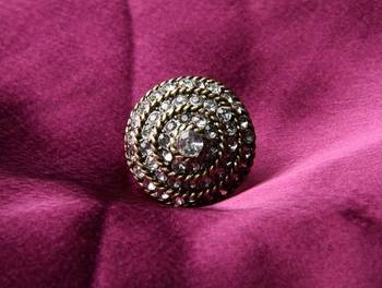 Rhinestone Cocktail Ring