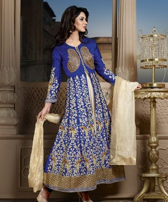 Semi Stitch Anarkali Salwaar Suit