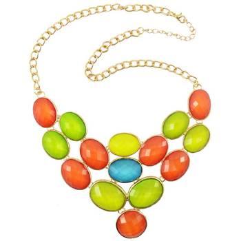DIOVANNI Fire Emblem of Colour Gemstone Necklace