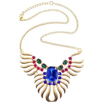 DIOVANNI Sapphire Stone Solitaire Crystal Necklace