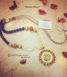 Buy Rhodo-Wheel Neckline Necklace online