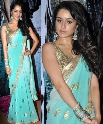 Shraddha Kapoor Aashiqui 2 Bollywood Replica Saree Designer Sari
