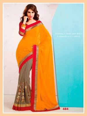 Party Wear Designer Saree with Blouse