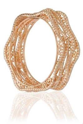 4pc sleek cz bangle