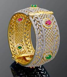 Buy CZ STONE STUDDED BEAUTIFUL SINGLE PIECE KADA Bracelet online