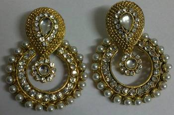 Designer Fancy Kundan Earings