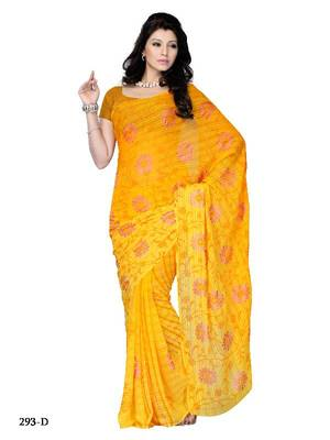 Florid casual/office wear saree in fancy fabric by DIVA FASHION- Surat