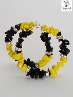 Head Tuning Yellow & Black Hoops