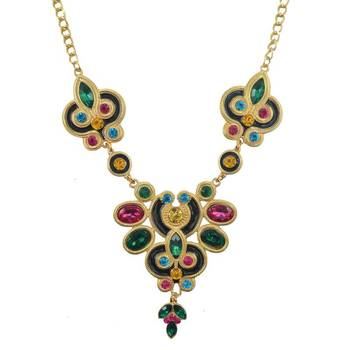 IndoFusion Kundan Crystal Magnificence Gemstone Studded Necklace