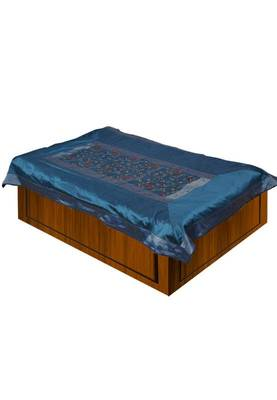 Turquoise Single Size Embroidery Bedsheet
