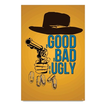 Good Bad Ugly Minimalistic Poster