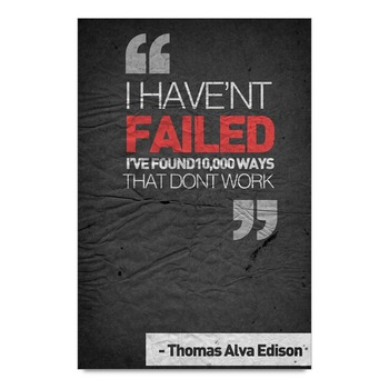 Failure Quote By Edison Poster
