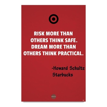 Risk More Dream More Quote Poster