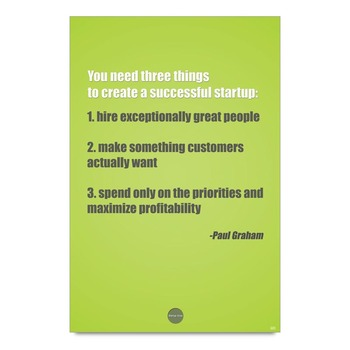 Successful Startup Tips By Paul Graham Poster