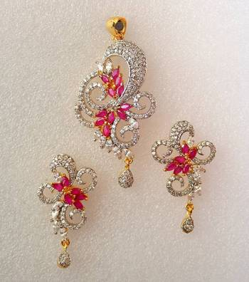 AD Pendant Set With Ruby