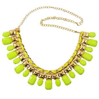 DIOVANNI Neon Lights of Summer  Gemstone Necklace
