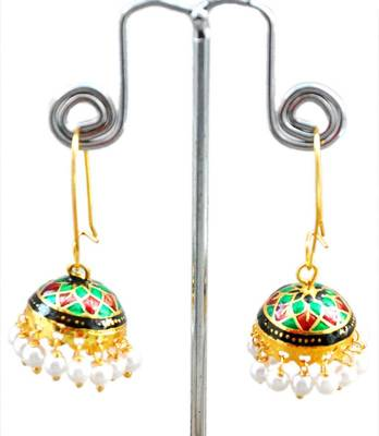 Maayra Multicolour Traditional Office Dailywear Jhumki Earrings