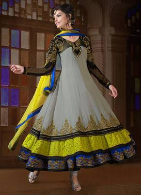 Fab Georgette Ankle Length Anarkali Suit Salwar Kameez anarkali dress party festival weddings gift