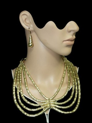 Cleopatra Snake Chains Gold Necklace