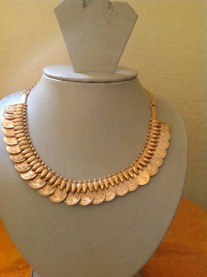 Exclusive goddess laxmi necklace set for festival season gold plated