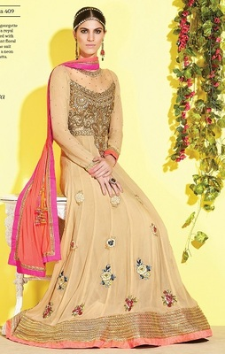 Party Wear Designer Floor Touch Aanrkali Suit