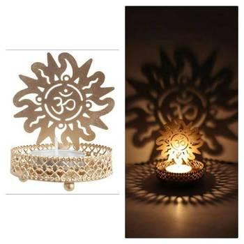 DIVINE Holy OMM T light festive gift shadow diya WITH WAX DIYA