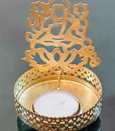 Buy DIVINE Holy Goddess lakshmi T light festive gift shadow diya WITH WAX DIYA housewarming-gift online