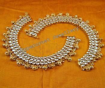 Kundan Bridal Anklet Payal with Ghungroo