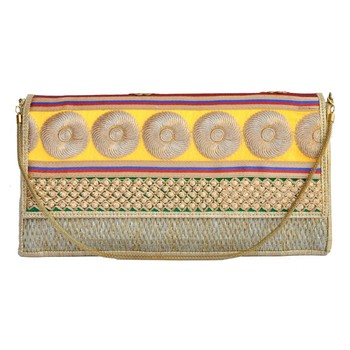 Craftstages Designer Jute and Resham Work Clutch Bag